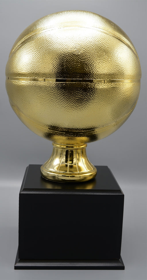 Gold Resin Basketball on Base - Great For Fantasy