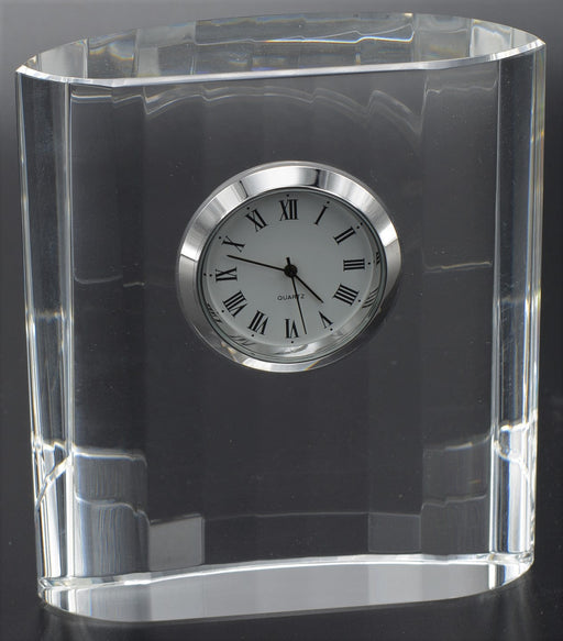 Oval Optical Crystal Clock