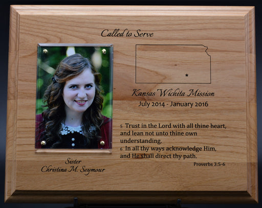 "Rustic Missionary 8""X10"" Solid Red Alder Plaque"