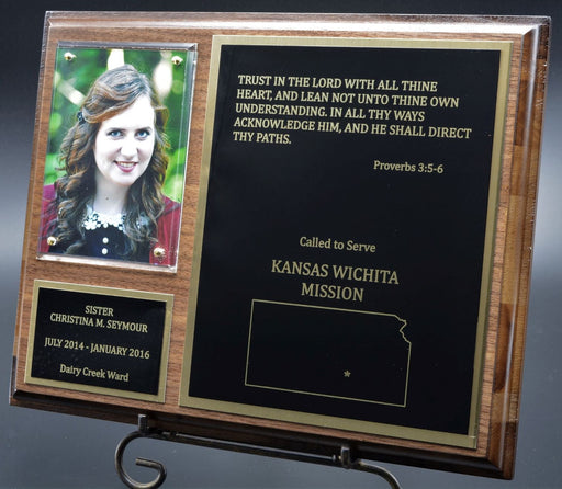 "Traditional Missionary 8""X 10"" Walnut Finish  Plaque"