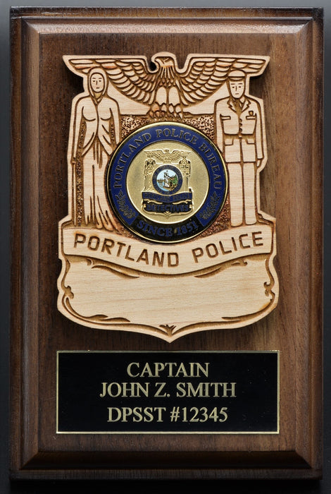 Police Challenge Coin Holder with No Title in Badge (2 Sizes)