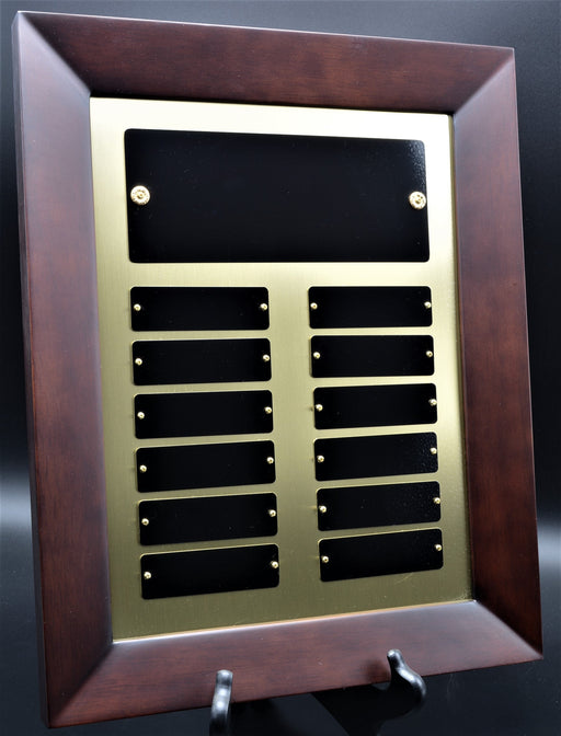 12 Plate Cherry Finish Perpetual Plaque