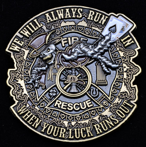 Firefighter Challenge Coin - Run In