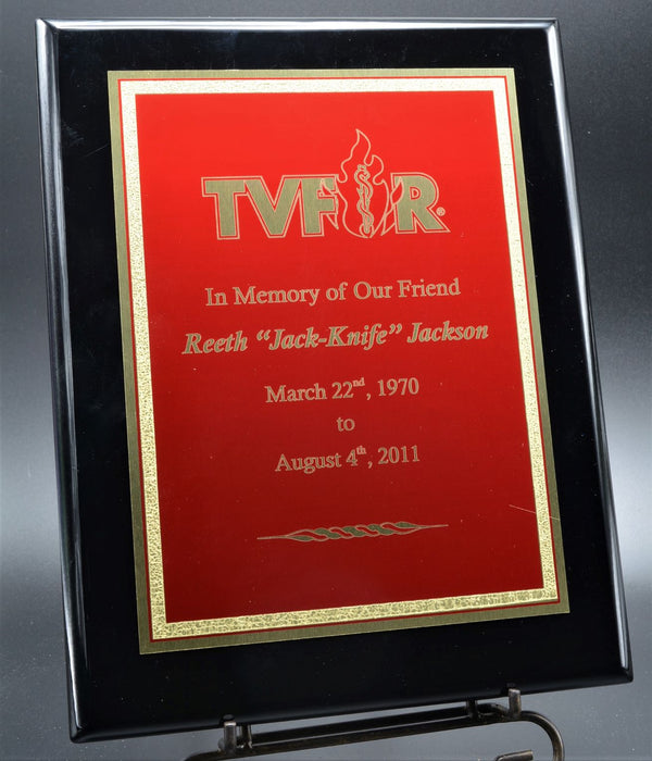 Textured-Gold Red Plaque (3 Sizes, 7 styles)