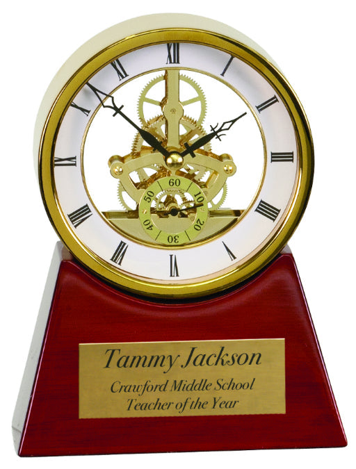 Gold & Rosewood Piano Finish Clock