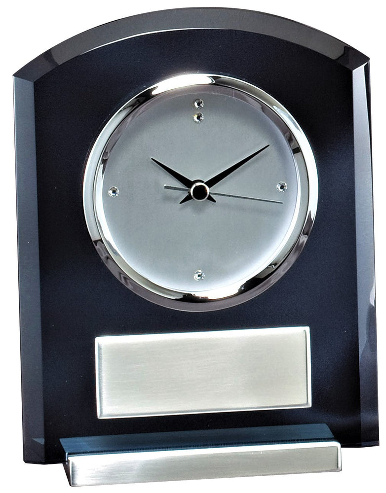 Smoked Glass Desk Clock