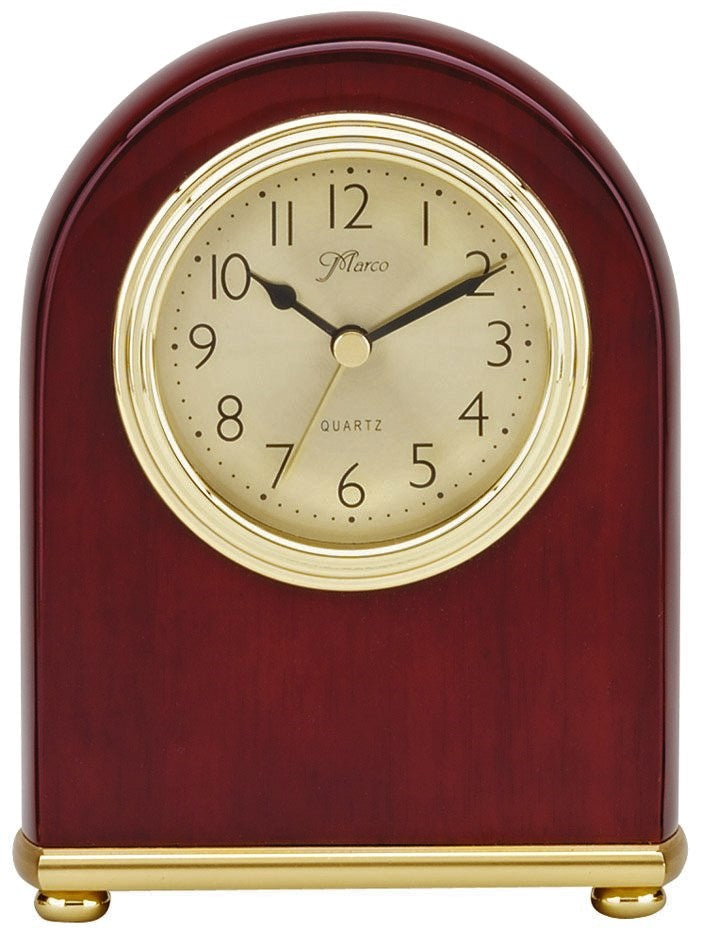 Rosewood Piano Finish Arched Desk Clock