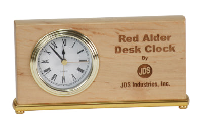 Red Alder Horizontal Desk Clock
