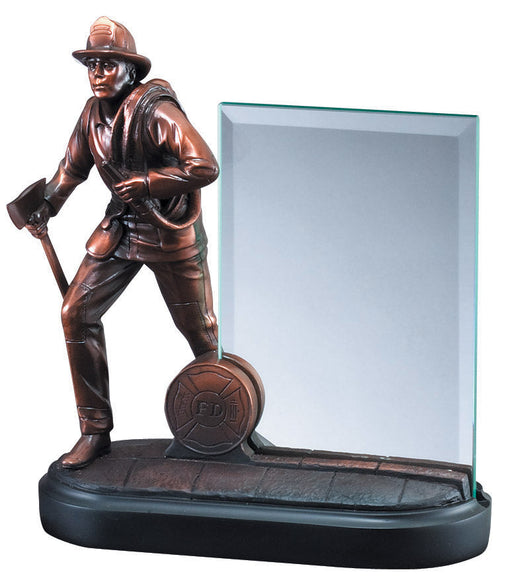 Firefighter Resin Hero Award