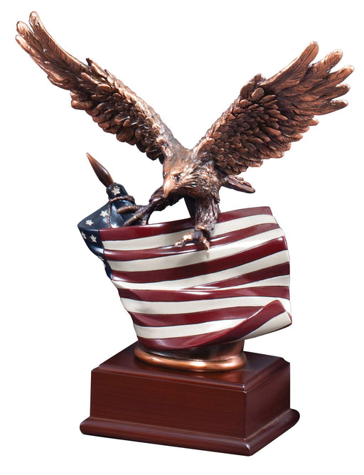 Eagle Resin with Flag