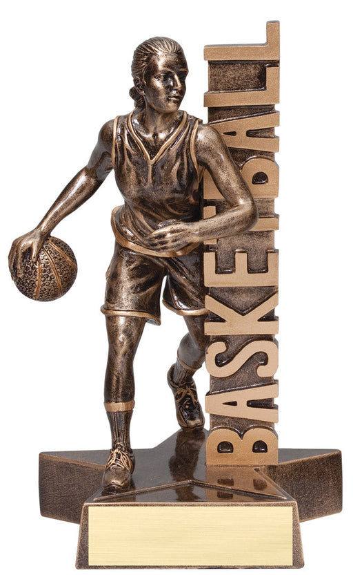 Basketball Female Figure Resin