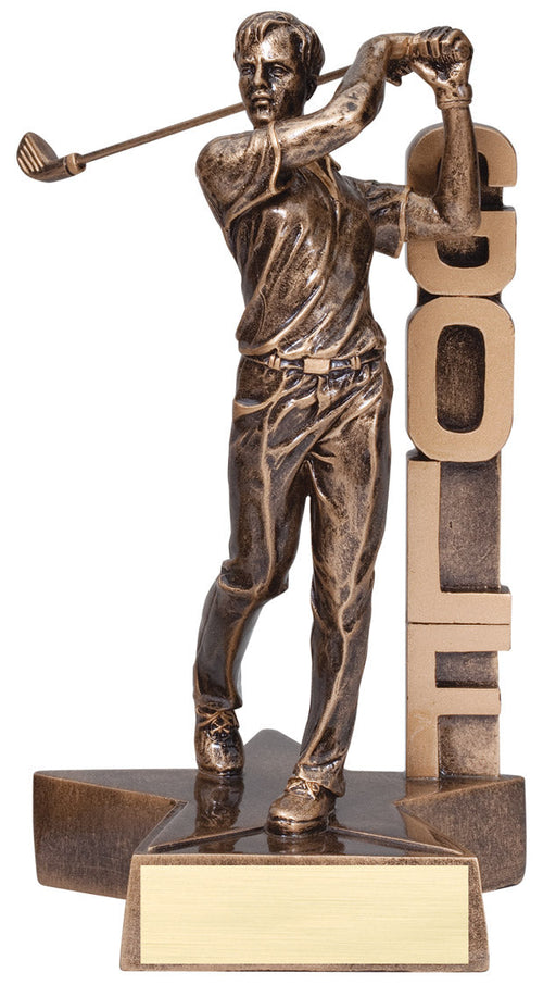 Golf Male Figure Resin