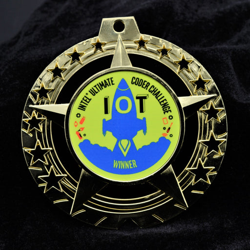 "Bright Finish Star 2"" Disc Insert Medal"