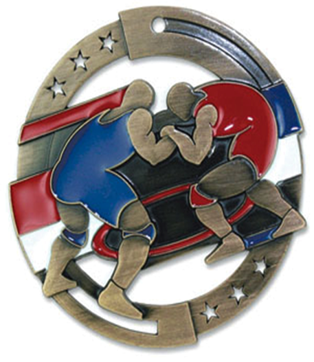 Color Fill Medal Wrestling