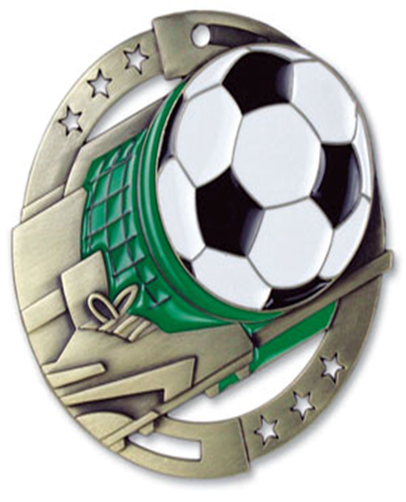 Color Fill Medal Soccer