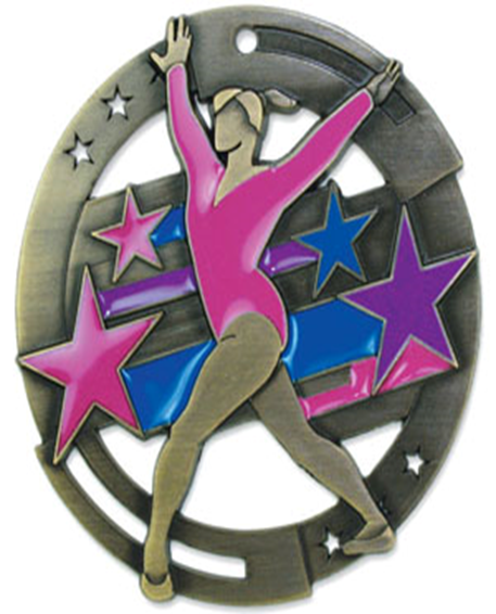 Color Fill Medal Gymnastics