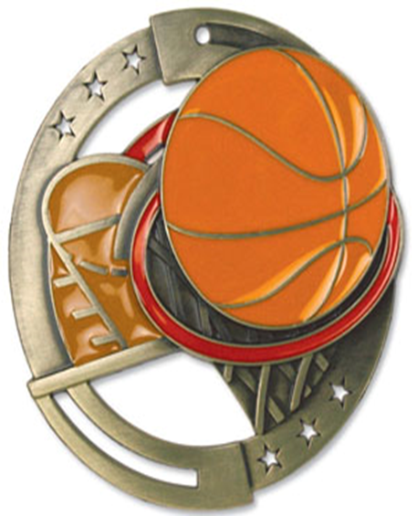 Color Fill Medal Basketball