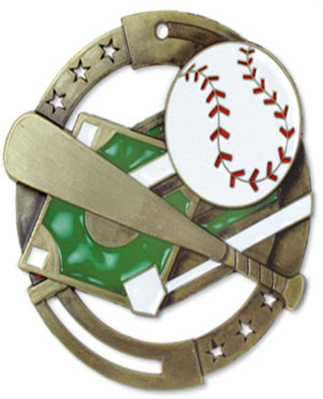 Color Fill Medal Baseball