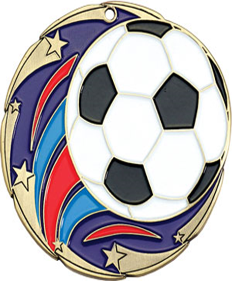 Color Star Medal Soccer