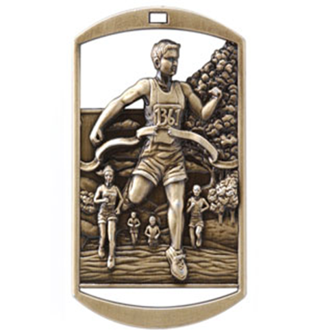 Dog Tag Medal Cross Country