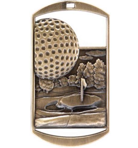 Dog Tag Medal Golf
