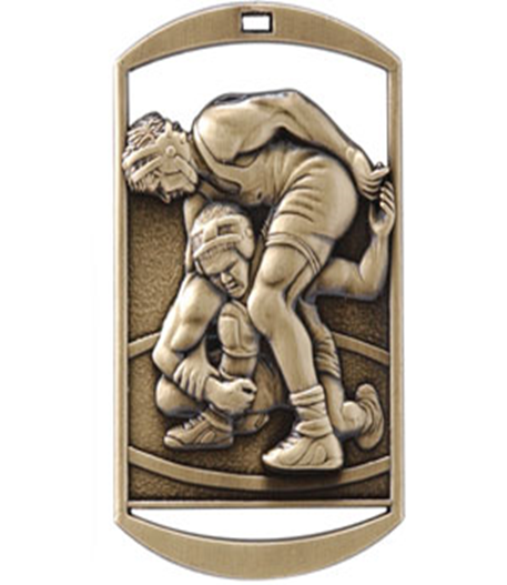 Dog Tag Medal Wrestling