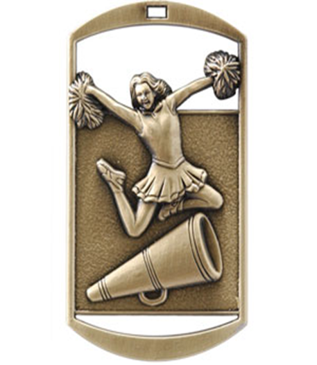 Dog Tag Medal Cheerleader