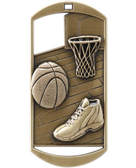 Dog Tag Medal Basketball
