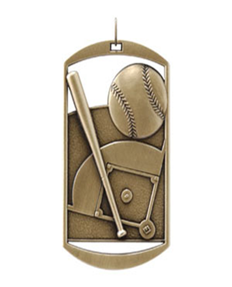 Dog Tag Medal Baseball