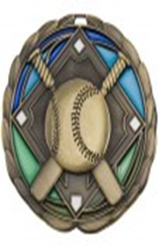 Color Epoxy Medallion Medal Baseball
