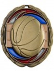 Color Epoxy Medallion Medal Basketball