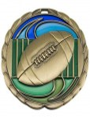 Color Epoxy Medallion Medal Football