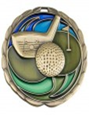 Color Epoxy Medallion Medal Golf