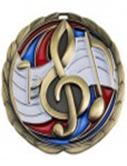 Color Epoxy Medallion Medal Music