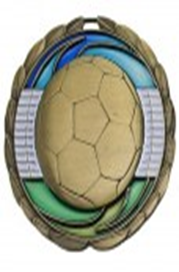 Color Epoxy Medallion Medal Soccer
