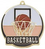 High Tech Medal Basketball