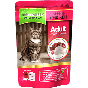 Natures Menu Cat Beef & Chicken 100gr