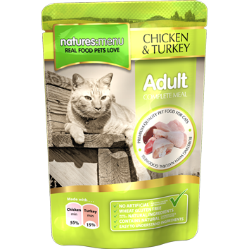 Natures Menu Cat Chicken with Turkey 100gr
