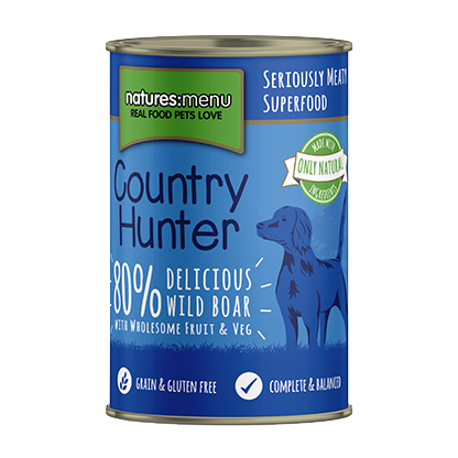 Natures Menu Coutry Hunter Wild Boar & Black Currant 400g