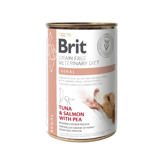 Brit Veterinary Diet Dog Renal Grain-Free Tuna & Salmon with Pea 400g
