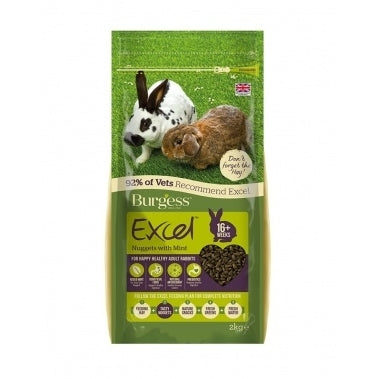 Burgess Excel Adult Rabbit Mint 2kg, 4kg e 10kg