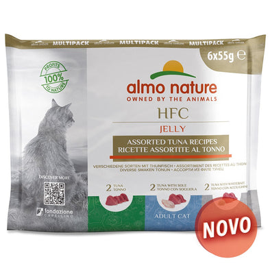 """ALMO NATURE"" HFC CAT JELLY - MULTI PACK - ATUM (6 SAQUETAS)"