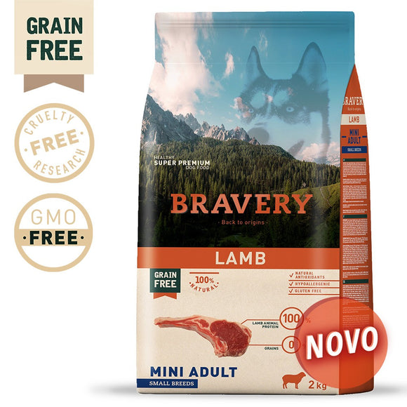 BRAVERY LAMB ADULT MINI-SMALL (GRAIN FREE)(2kg ou 7kg)