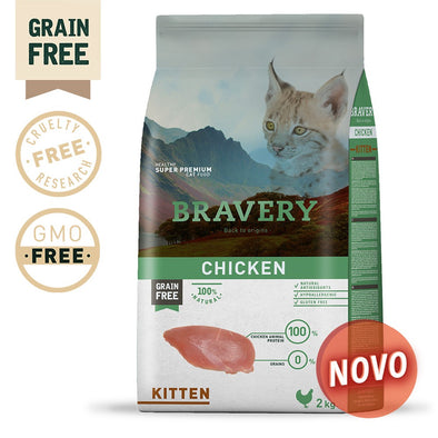 BRAVERY CHICKEN KITTEN (GRAIN FREE)(400g ou 2kg)