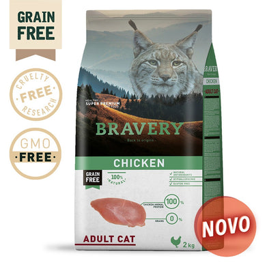 BRAVERY CHICKEN ADULT CAT (GRAIN FREE)(2kg ou 7kg)