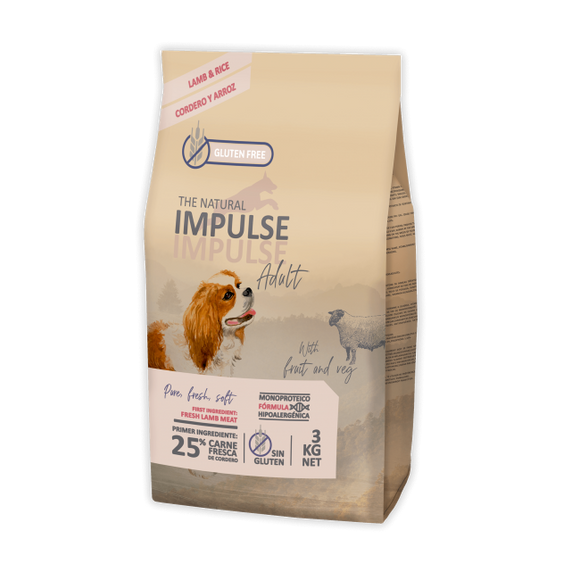 The Natural Impulse Adult Lamb (3kg e 12kg)