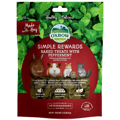 Oxbow Simple Rewards Baked Treats with Peppermint 60gr
