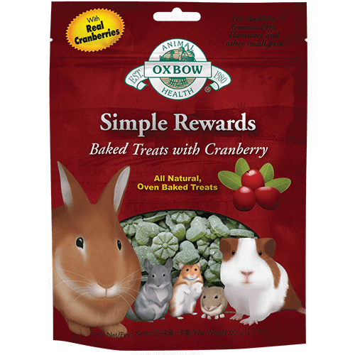 Oxbow Simple Rewards Baked Treats with Cranberry 60gr