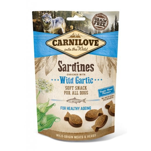 Carnilove Sardines enriched with Wild Garlic Soft Snack Dog 200g