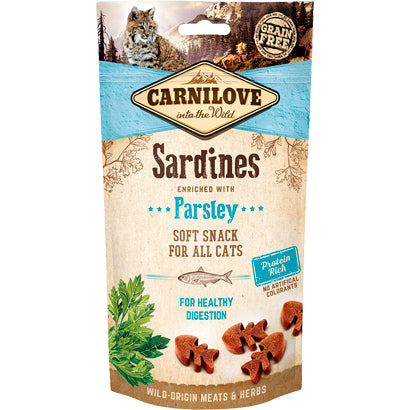 Carnilove Sardines enriched with Parsley Soft Snack cat 50g